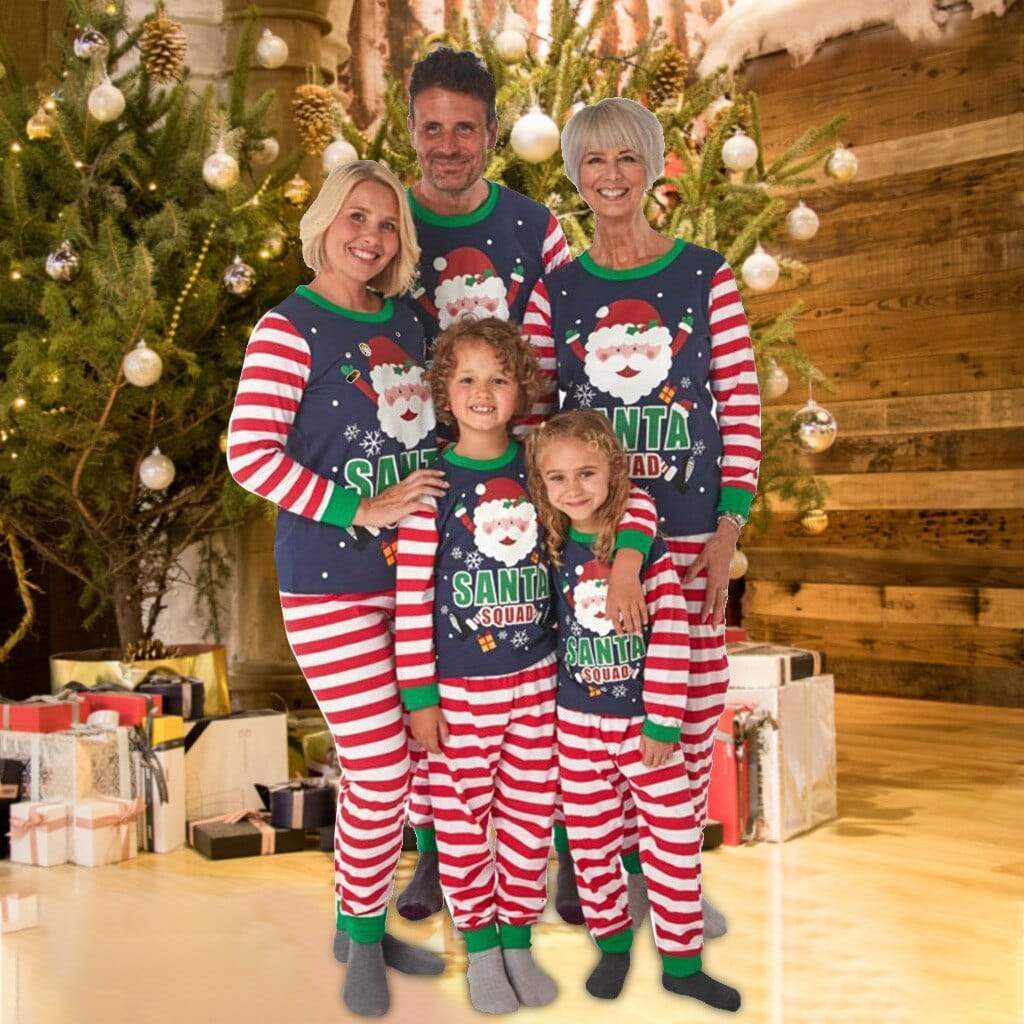 Family of Santa Clause-Themed Matching Pajamas - The Palm Beach Baby