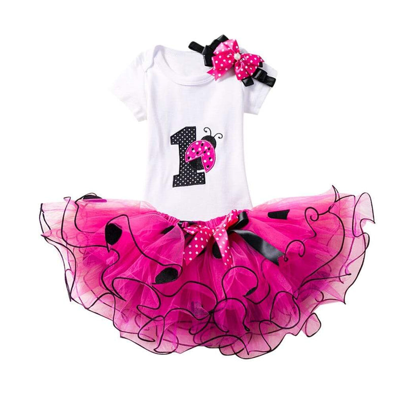 Adorable Lady Bug 1St Birthday Tutu Set - The Palm Beach Baby