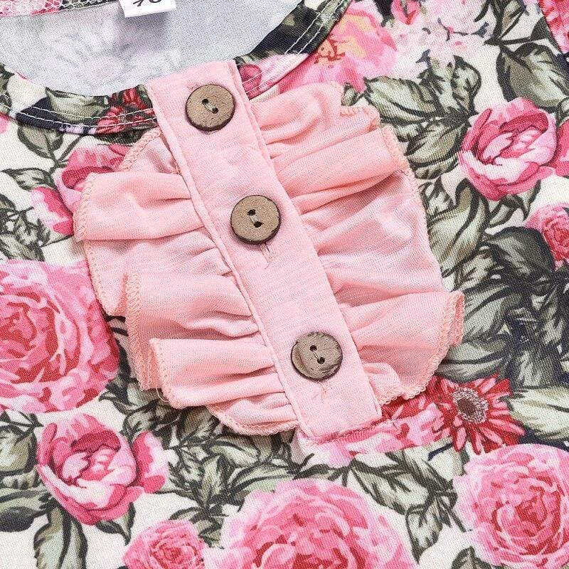 Infant English Floral Sleeping Gown + Headband - The Palm Beach Baby