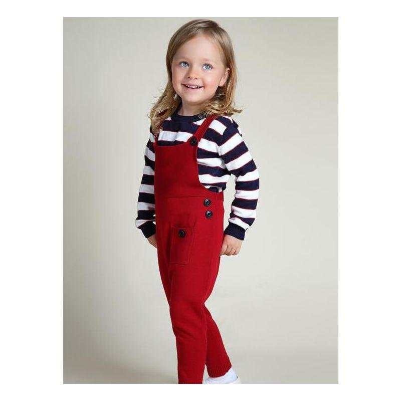 Kids Cute Knitted Overalls - The Palm Beach Baby