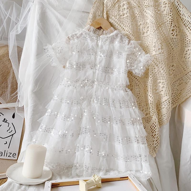 """Kimberly-Ann"" White Lace Princess Dress -The Palm Beach Baby"