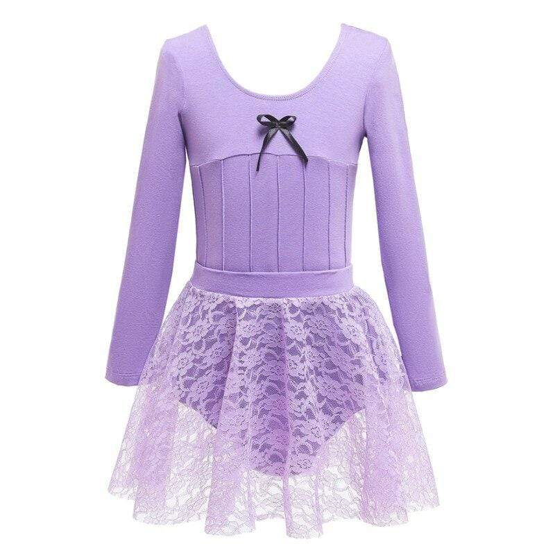 """Lara"" Lace Gymnastics Dance Dress - The Palm Beach Baby"