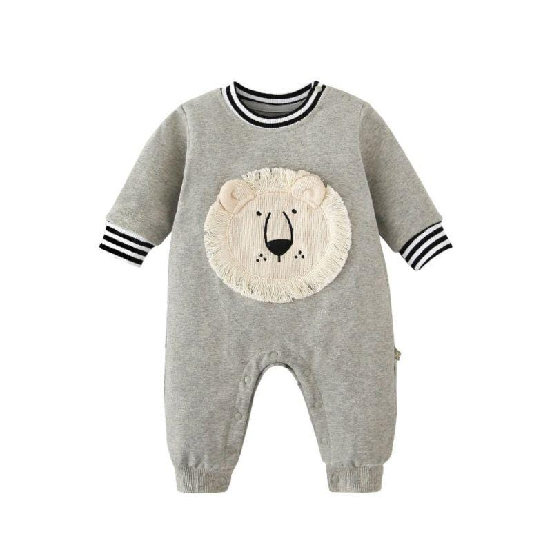 """Leo Lion"" Babies Jumpsuit (2 Colors) - The Palm Beach Baby"