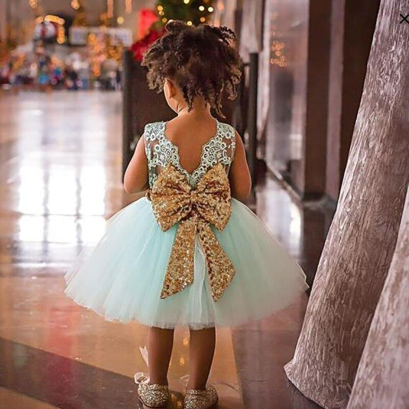 """Miranda"" V-Back Dress With Sequin Bow - The Palm Beach Baby"