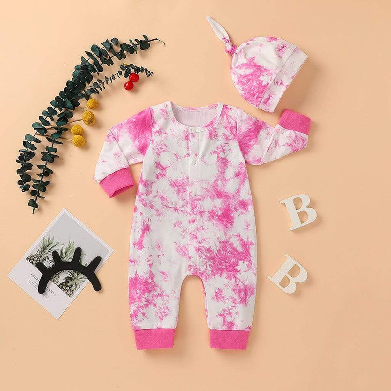 """Little Bit Retro"" Tie-Dyed Romper Set (7 Designs) - The Palm Beach Baby"