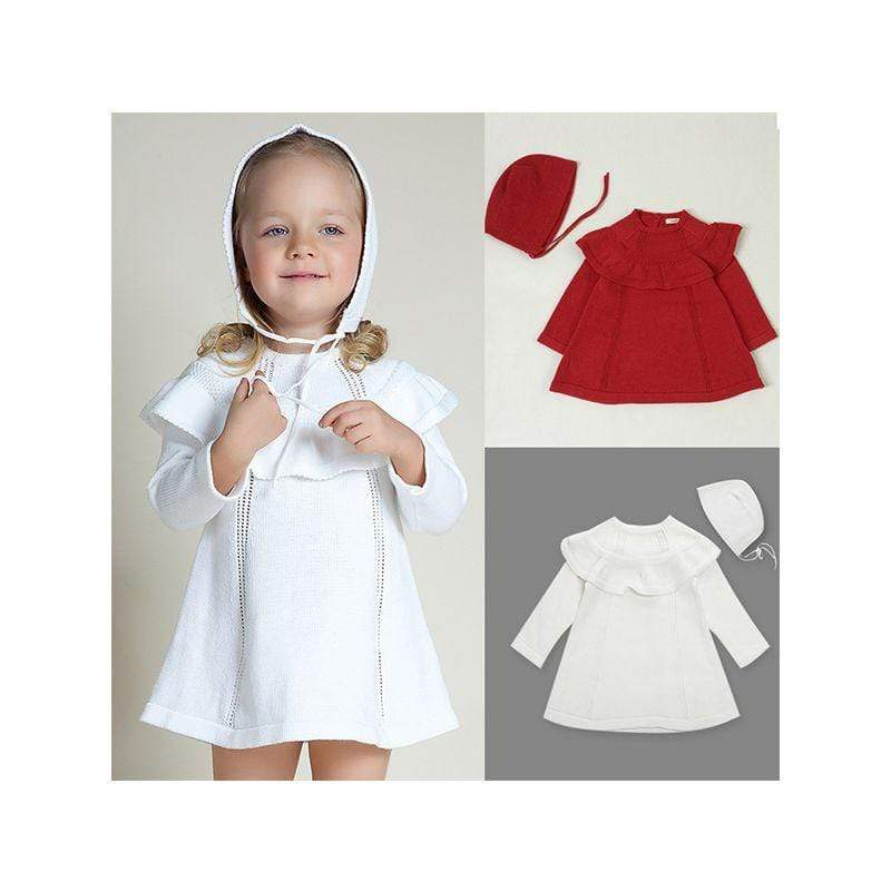 """Maryann"" Dress With Matching Hat - The Palm Beach Baby"