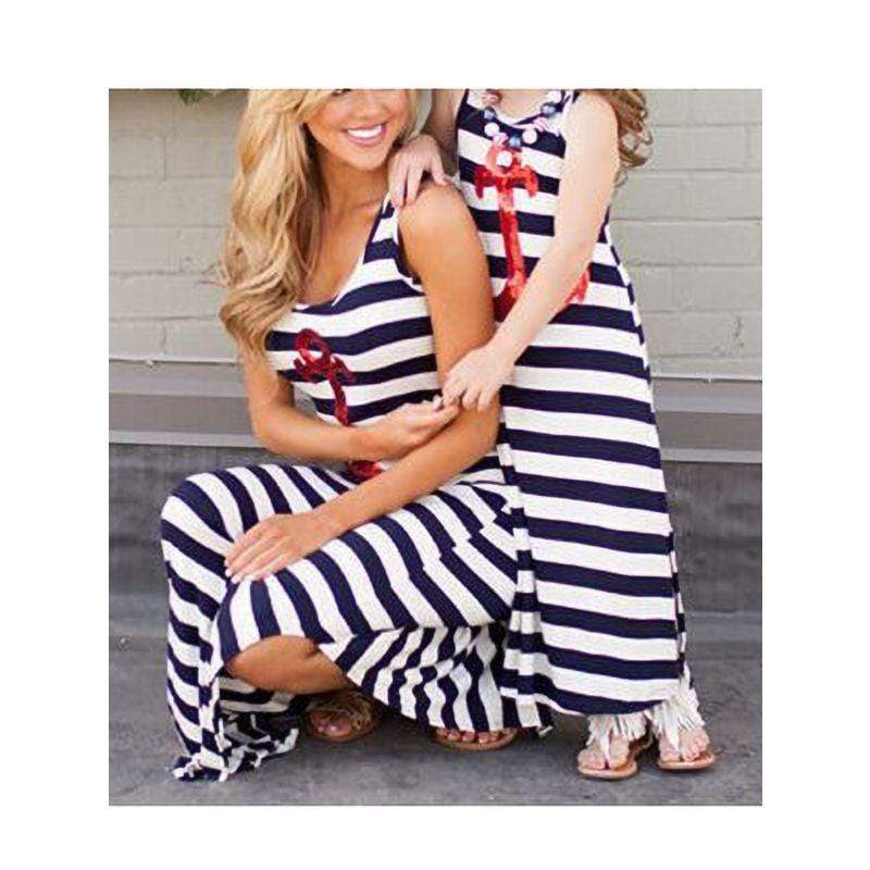 Mom And Daughter Matching Anchor Tank Dress - The Palm Beach Baby