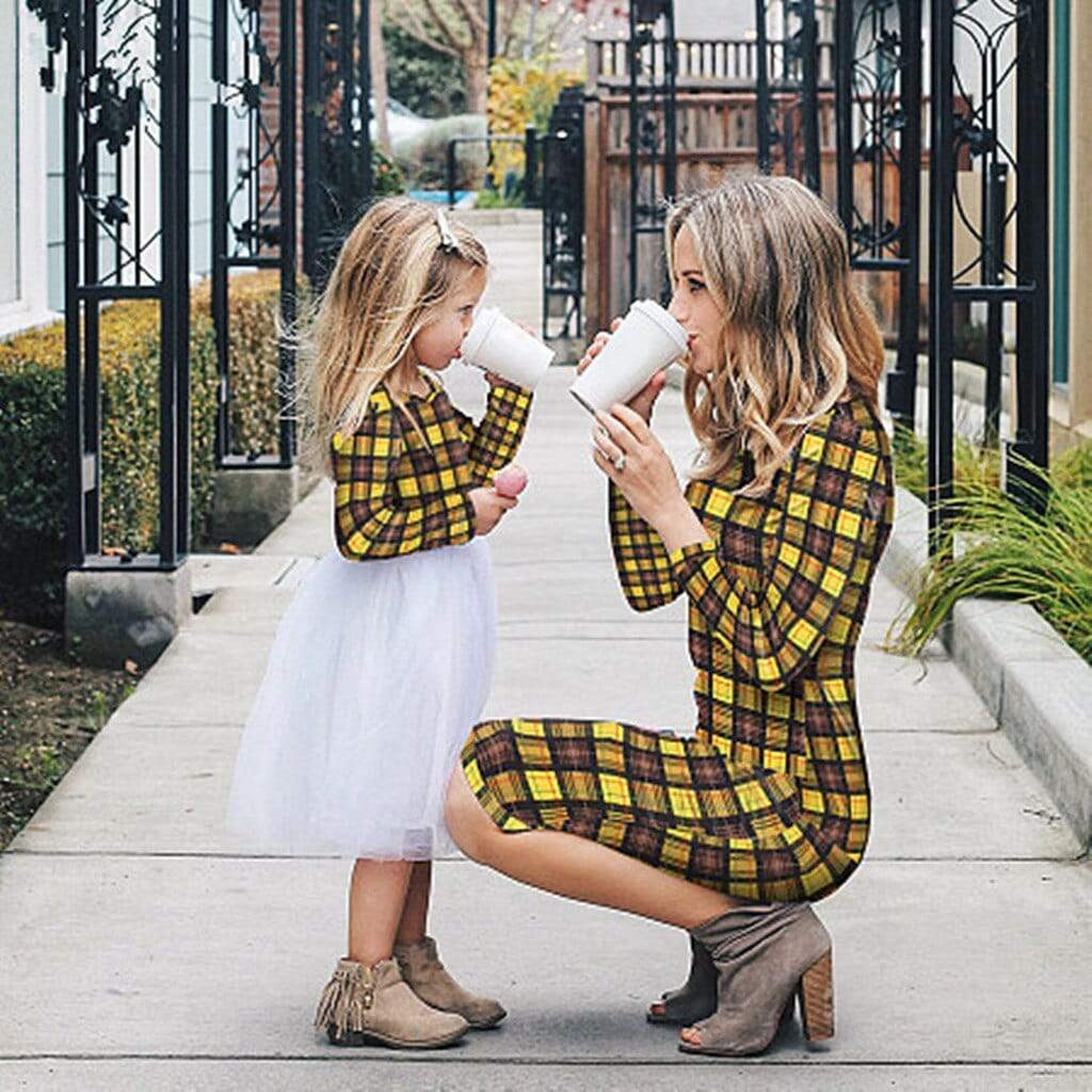 Mother-Daughter Matching Plaid Dresses - The Palm Beach Baby