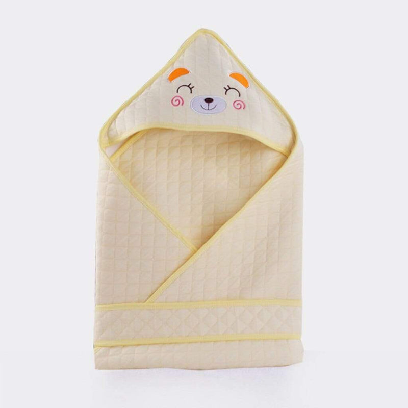 """Here Kitty"" Newborn Quilted Swaddle - The Palm Beach Baby"