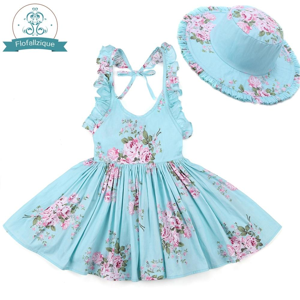 """Oh Suzannah"" Floral Dress With Bonnet - The Palm Beach Baby"
