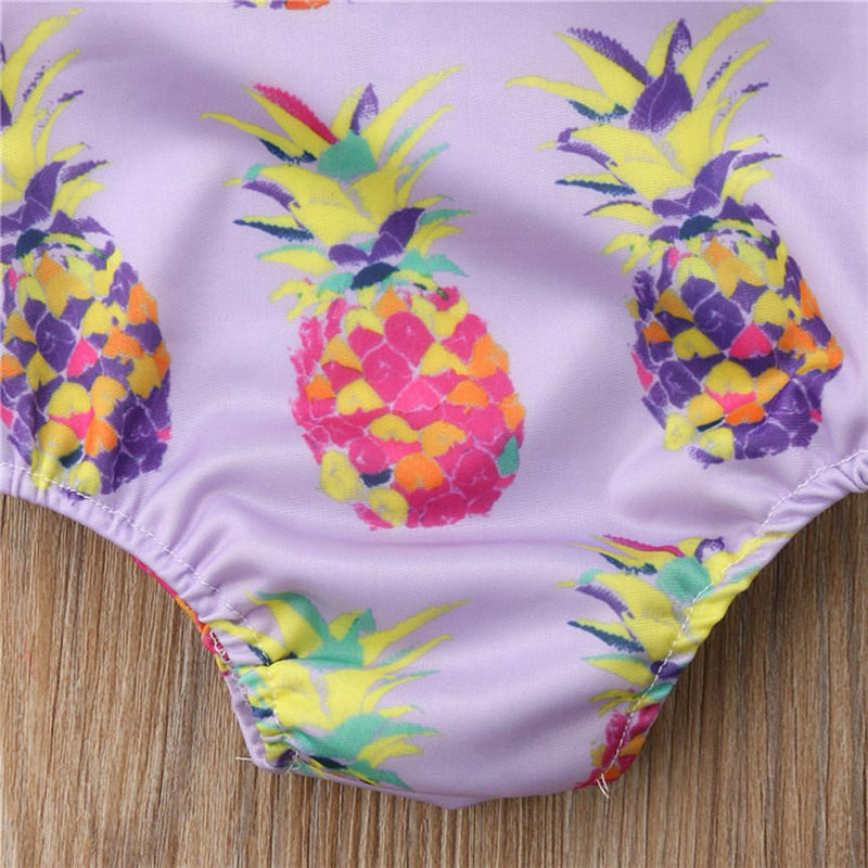 """Pineapple Passion"" One-Piece Swimsuit - The Palm Beach Baby"