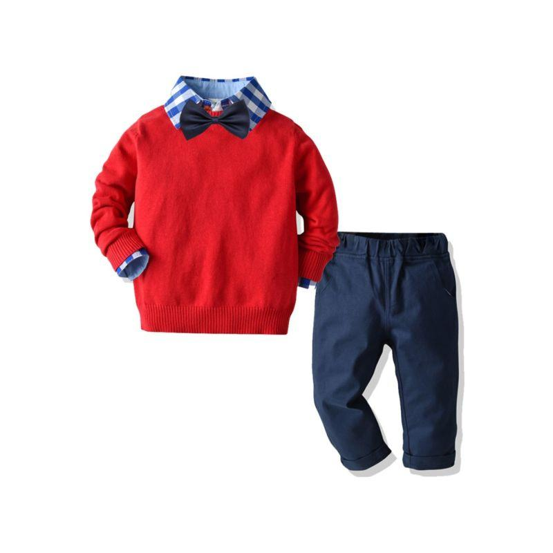 """Preston"" 4-Piece Boys Pants Set - The Palm Beach Baby"