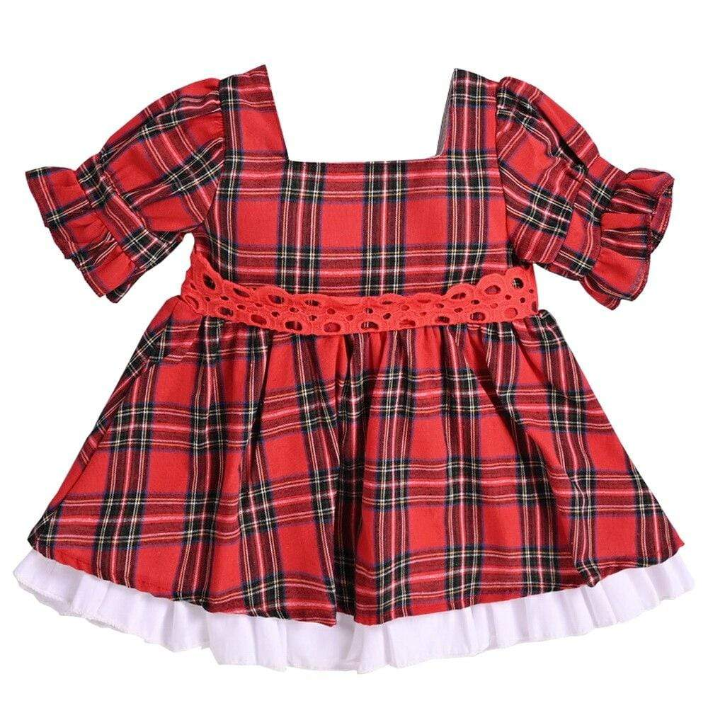 Pretty Red Plaid Party Dress With Big Bow - The Palm Beach Baby