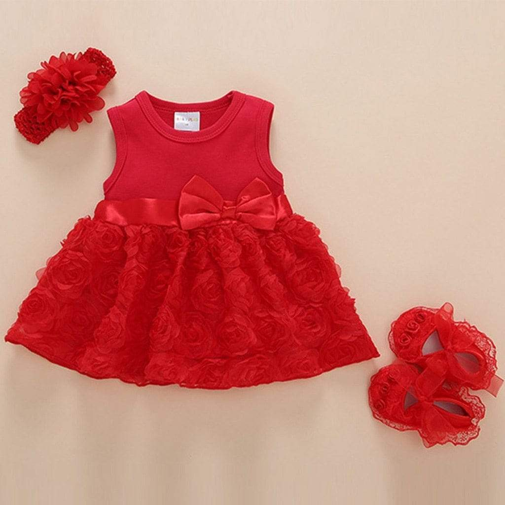 """Amanda-Louise"" 3 PC Party Dress Set - The Palm Beach Baby"