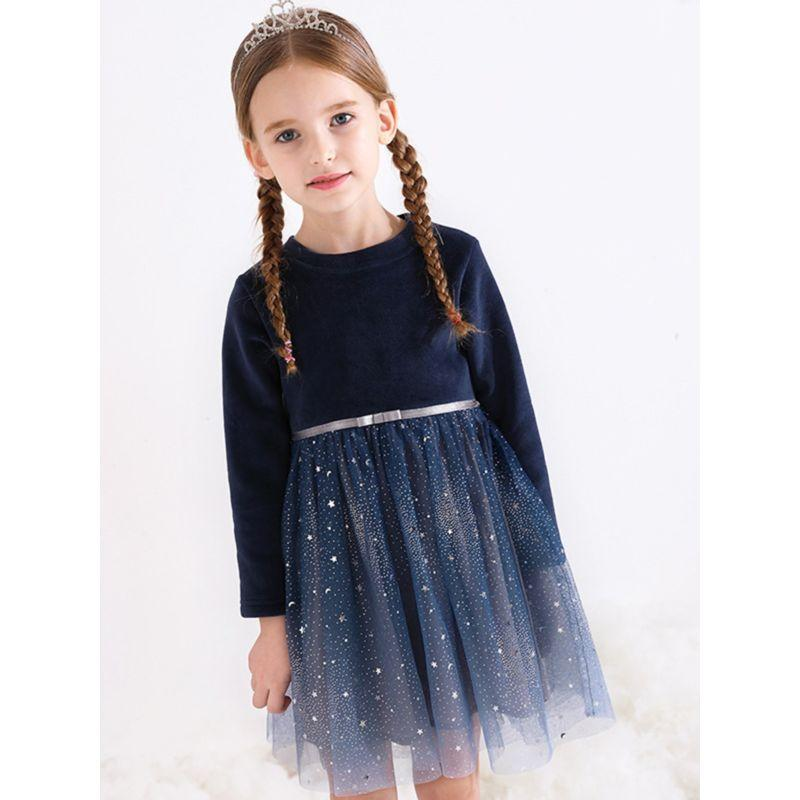 """Starlight"" Navy Tulle Party Dress - The Palm Beach Baby"