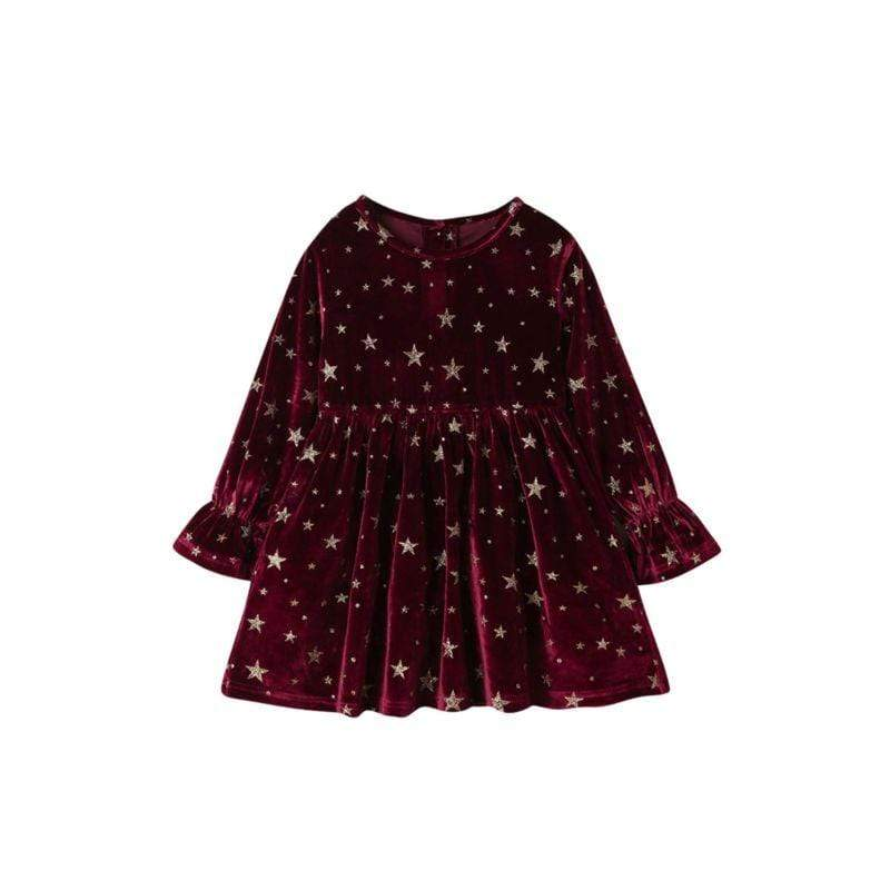 """Starlight"" Velvet Party Dress - The Palm Beach Baby"