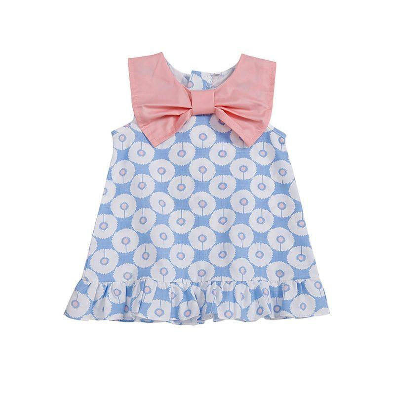 """Summer Baby"" Big Bow Peplum Dress - The Palm Beach Baby"