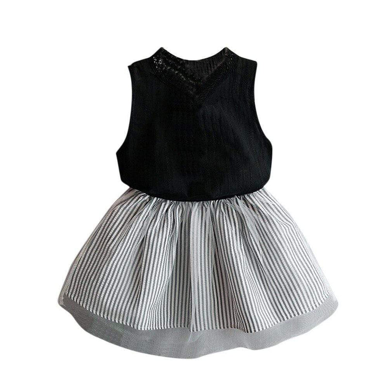 """Adrianna"" Chic Top + Tutu Skirt Set - The Palm Beach Baby"