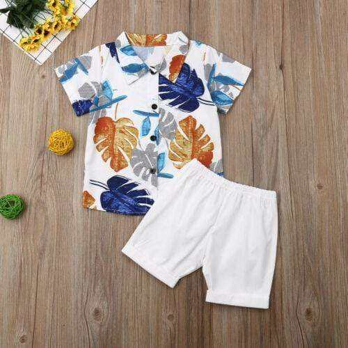 Palm Print Boys Shorts Set - The Palm Beach Baby