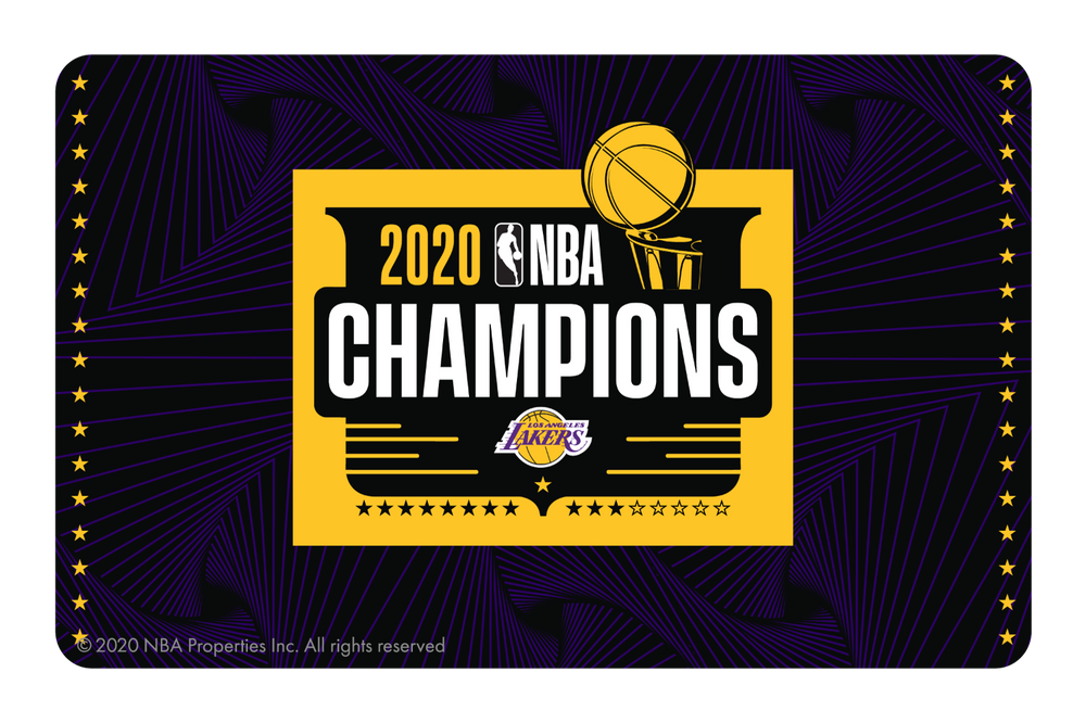 2020 NBA Champions: Los Angeles Lakers (B)