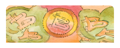 Bitcoin Watercolor