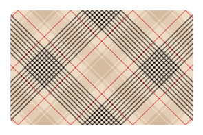 Beige Red Plaid