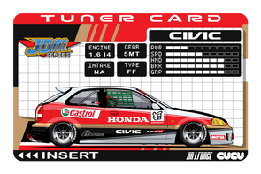Tuner Card EK9 Civic (W)