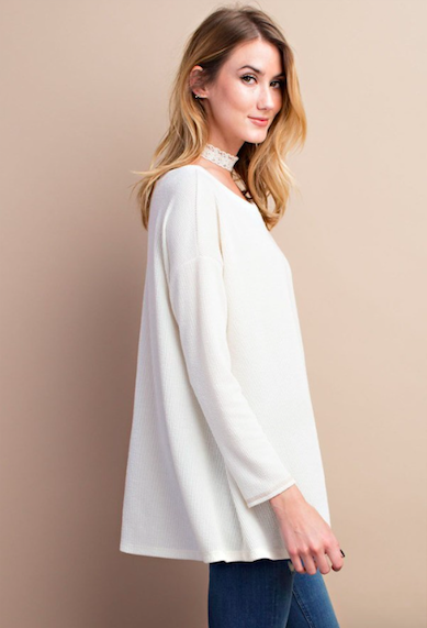 Straight Up Chillin Tunic Ivory