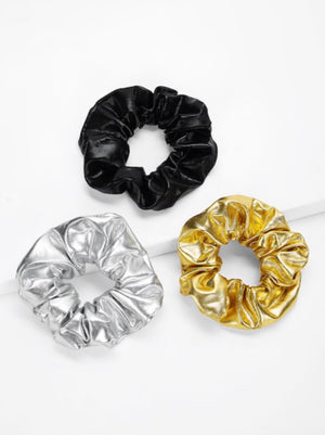 Metallic Colored Scrunches 3pack