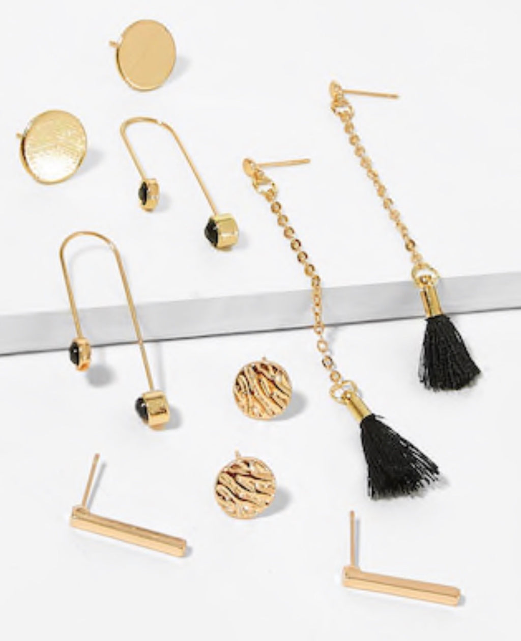 Bar & Tassel Earrings 5piece