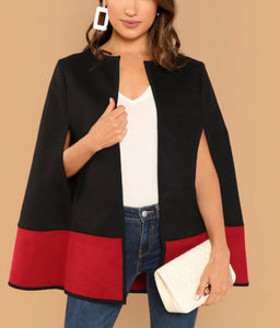 Color Block Cape Coat