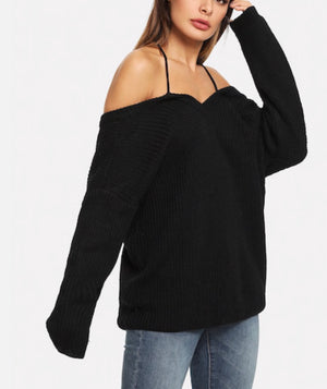 Drop Shoulder Cami Sweater