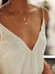 Round Pendant Layered Necklace Set