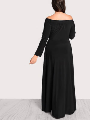 Plus Size Tailored Bardot Jumpsuit with Skirt