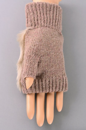 Fingerless Gloves WHITE