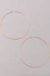 Hoop Earrings GOLD (Color Options Available)