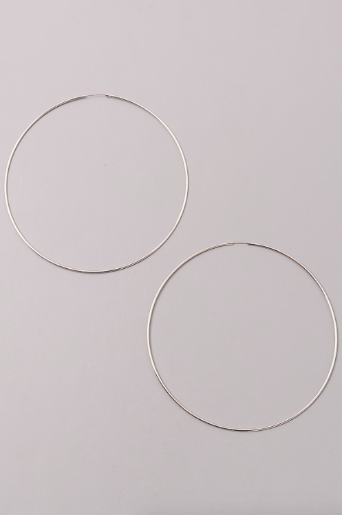 Hoop Earrings SILVER (Color Options Available)