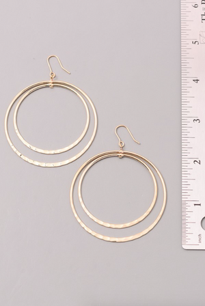 Layered Hoop Earrings SILVER (Color Options Available)