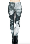 Man Hanging From Moon Printed Leggings