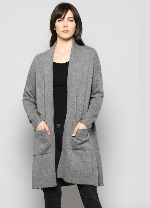 Not Your Boyfriends Cardigan GREY