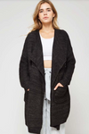 Cozy Up Cardigan CHARCOAL