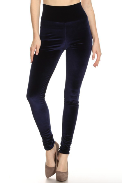 High waist full length velvet legging (Click here for more colors)