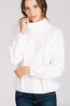 Cable Knit WHITE Sweater