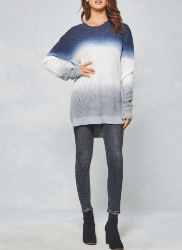 Ombre Thermal Hooded Tunic
