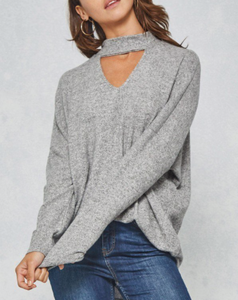 Cut Out Front Sweater