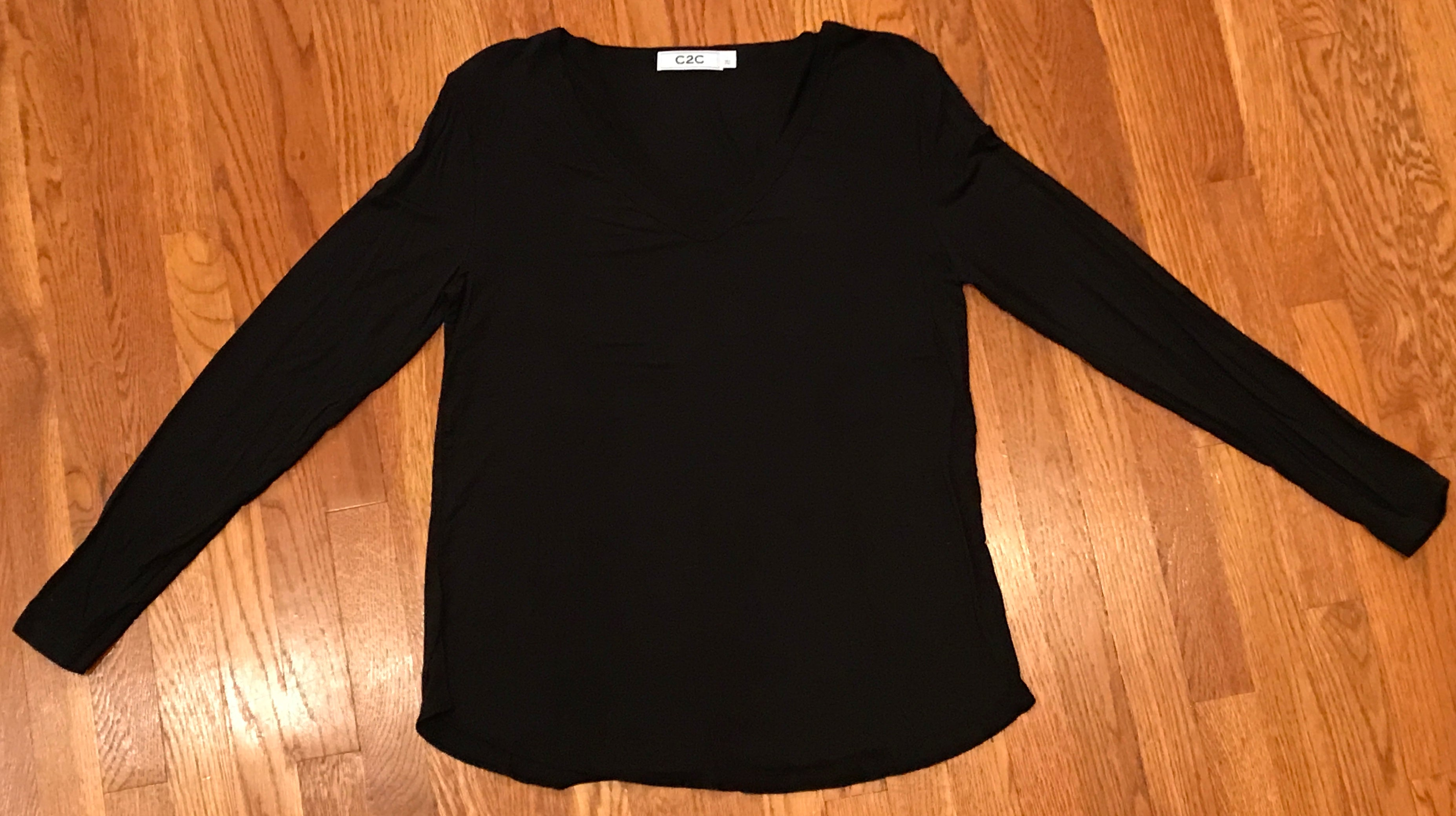 Your Throw On V-Neck Basic Long Sleeve
