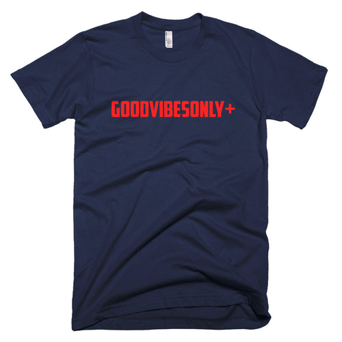 Navy Blue GOODVIBESONLY+ Short sleeve men's t-shirt
