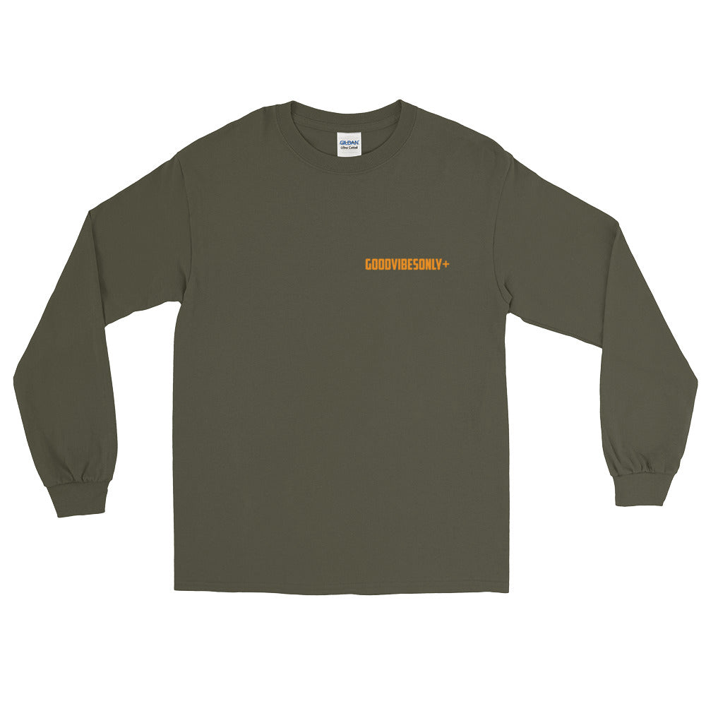Olive Green & Orange GOODVIBESONLY+ Long Sleeve T-Shirt