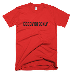 Red GOODVIBESONLY+ Short sleeve men's t-shirt