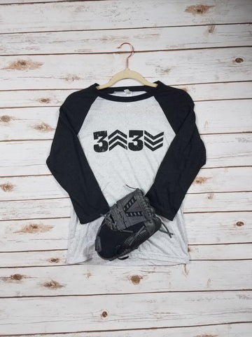 3 UP 3 DOWN Baseball Raglan